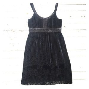 Navy and Black Spense Dress
